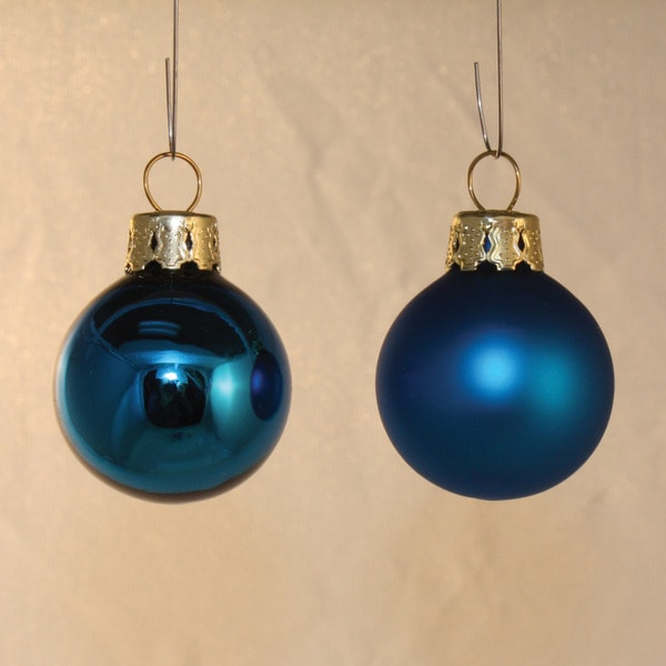 Festive Blue Holiday Ornaments (set of 21)