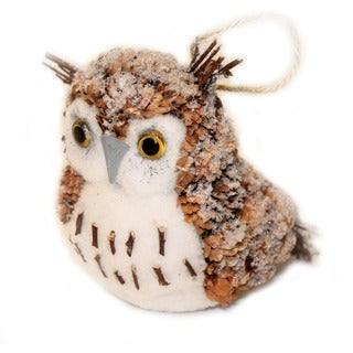 Pine Cone Natural Owl Holiday Ornament