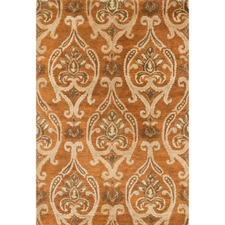 Hand-tufted Ferring Spice Wool Rug (5' x 7'6)