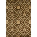 Hand-tufted Ferring Mocha Wool Rug (3'6 x 5'6)