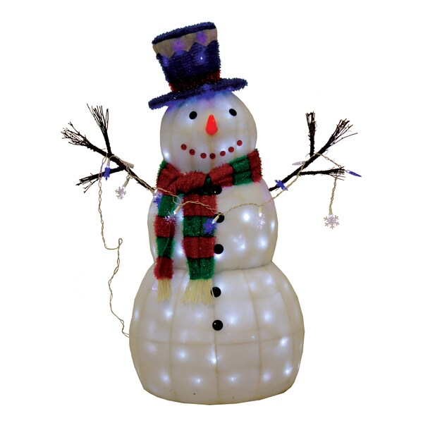 Snow-Soft Snowman Sculpture 42-inch Figurine