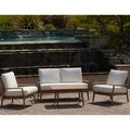 Christopher Knight Home Lombardi Outdoor Eucalyptus Wood 4-piece Seating Set