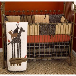 Cotton Tale Animal Stackers 4-piece Crib Bedding Set | Overstock ...