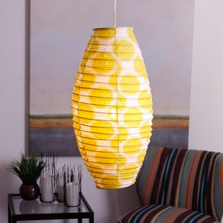 Ibiza Lime Cocoon Lamp Shade (Indonesia)