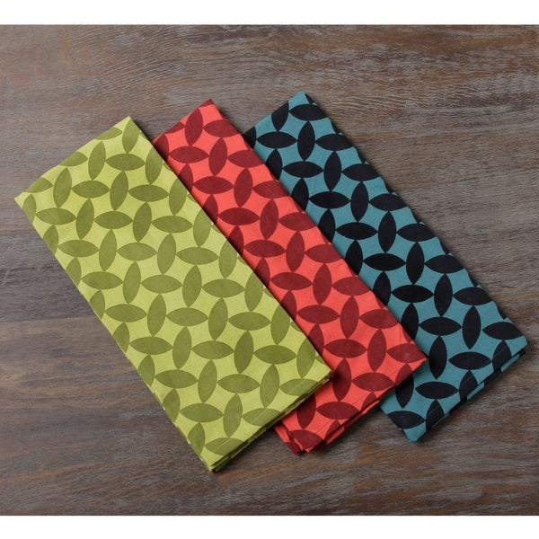 Set of Three Cool Beans Cotton Kitchen Towels (Indonesia)
