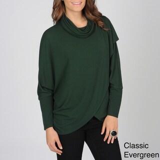 Grace Elements Women's Lightweight Cowl-neck Fashion Sweater