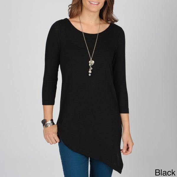 Grace Elements Women's Asymmetrical Hem Lightweight Sweater