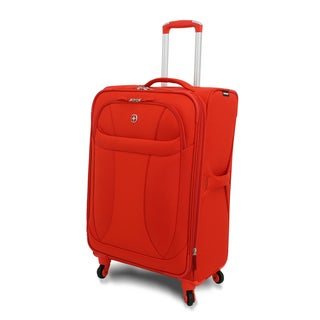 Wenger Orange Neolite 24-inch Lightweight Spinner Upright Suitcase