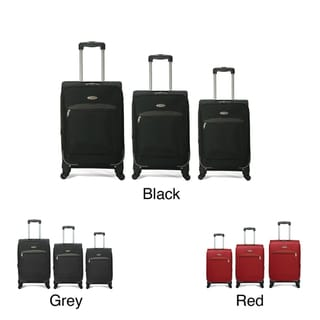 Benzi 3-piece Expandable 4-wheel Multidirectional Spinner Luggage Set