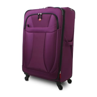 Wenger Eggplant Neolite 20-inch Lightweight Carry-on Spinner Upright Suitcase