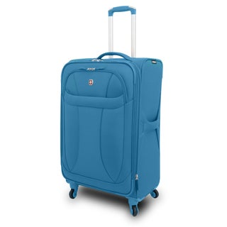 Wenger Blue Neolite 24-inch Lightweight Spinner Upright Suitcase