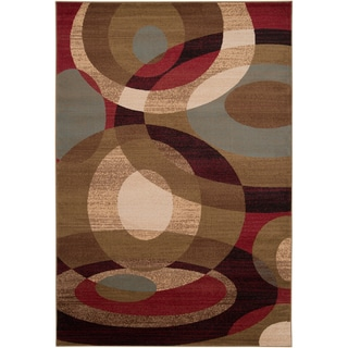 Woven Coen Geometric Circles Plush Rug