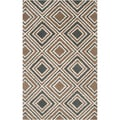 Hand-tufted Driscoll Geometric Diamond Wool Rug