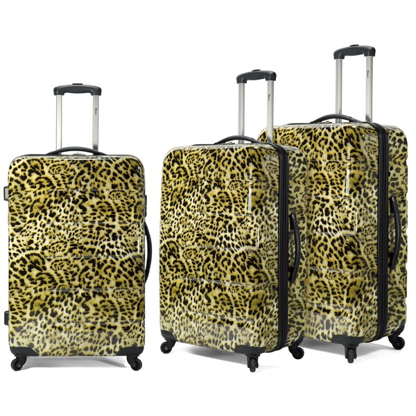 Benzi 3-piece Lightweight Fashion Spinner Hardside Luggage Set