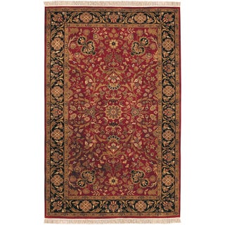 Hand-knotted Bandonale Semi-worsted New Zealand Wool Rug (2' x 3')