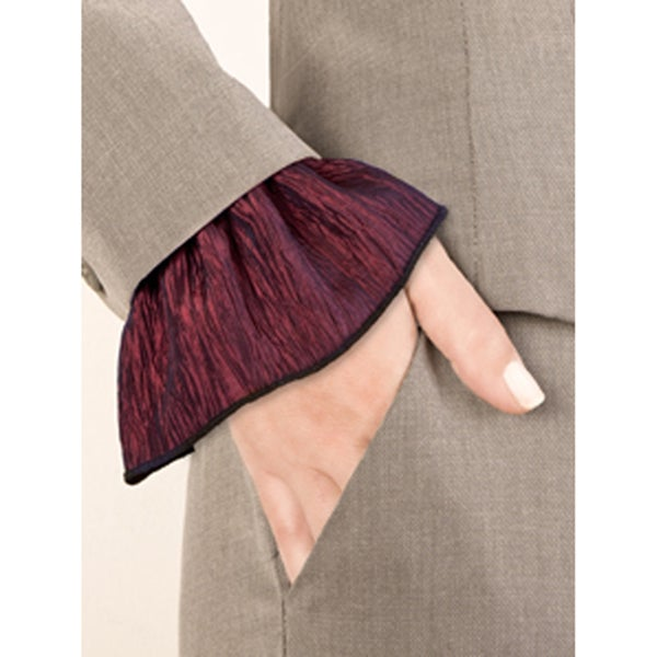Burgundy Red Slip-On Cuff