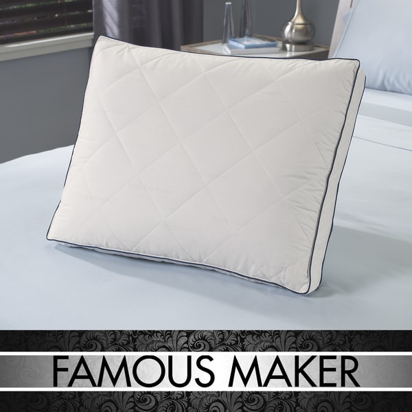 Famous Maker Even Support Quilted Microfeather Pillow