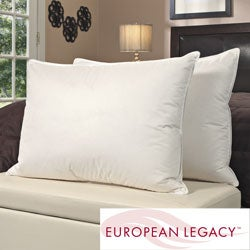 European Legacy Moisture Wicking Down Alternative Pillows (Set of 2)