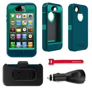 OtterBox Defender Apple iPhone 4/4S Protector Case / Car Charger / Velcro Tie