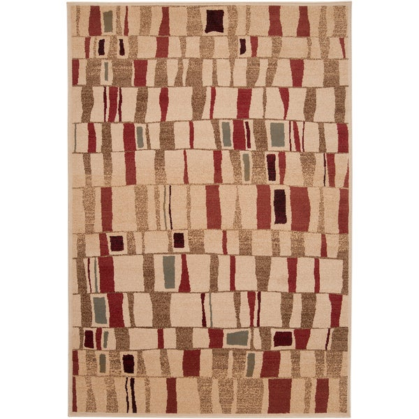Colville Abstract Squares Plush Rug