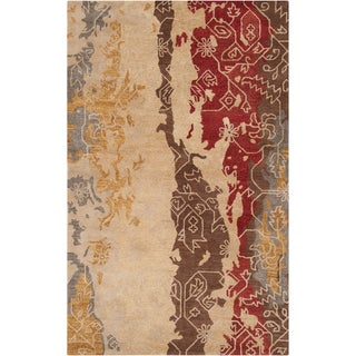 Hand-tufted Corindi Abstract Pattern Wool Rug