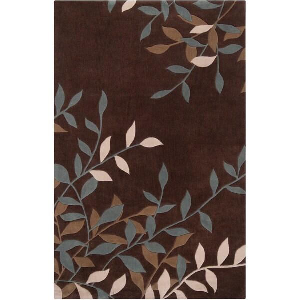 Hand-tufted Bishop Floral Plush Rug