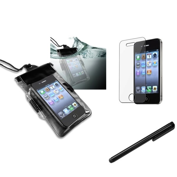 INSTEN Waterproof Bag/ Protector/ Stylus for Apple iPhone 4/ 4S