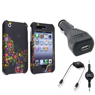 BasAcc Rainbow Garden Case/ Cable/ Charger for Apple iPhone 3G/ 3GS