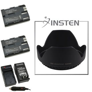 INSTEN Batteries/ Chargers/ Lens Hood for Canon 5D/ 10D/ 20D/ D30