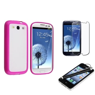 BasAcc Case/ Screen Protector/ Stylus for Samsung Galaxy S III/ S3