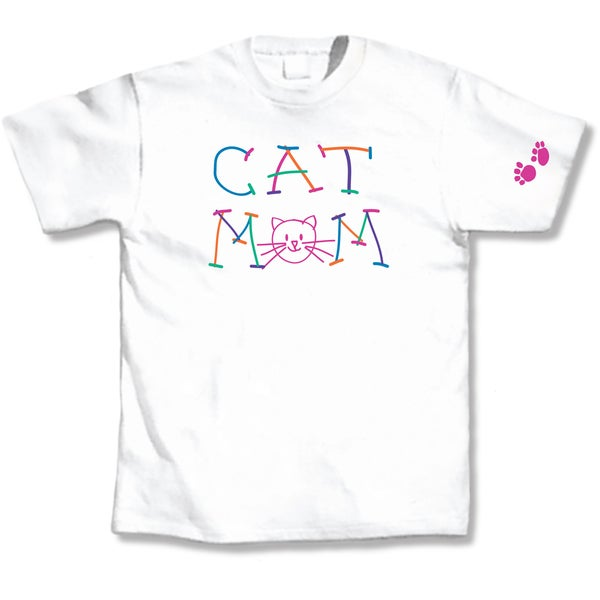 Cat Mom White T-Shirt