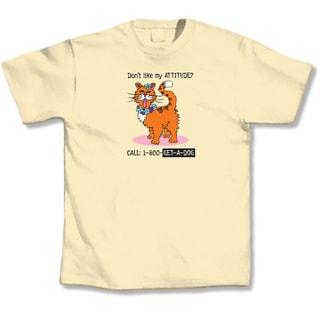 LA Imprints 'Call 1-800-GET-A-DOG' Cat Yellow T-Shirt