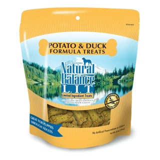 Natural Balance? L.I.T. Limited Ingredient Treats? 8-ounce Potato & Duck Formula Dog Treats