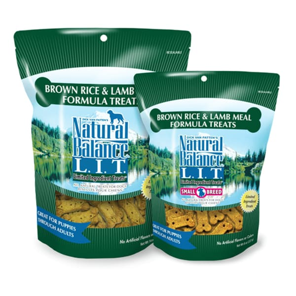Natural Balance L.I.T. Brown Rice & Lamb Meal Formula 8-ounce Dog Treats