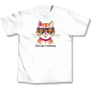 Cattitude White T-Shirt