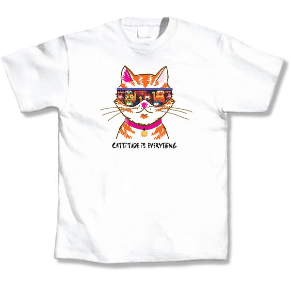 Cattitude White T-Shirt