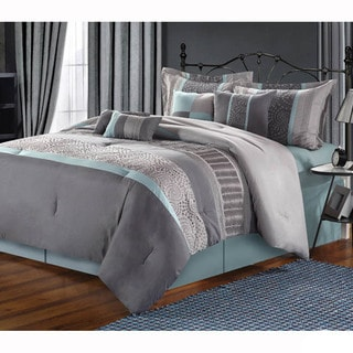 Euphoria Embroidered 8-piece Comforter Set
