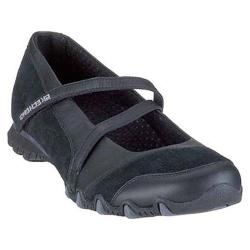 Women's Skechers Active Bikers Step up Black/Charcoal Leather