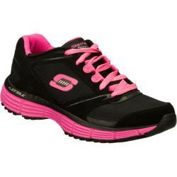 Women's Skechers Agility Rewind Black/Pink