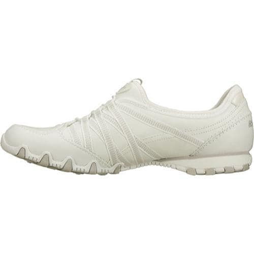 Women's Skechers Bikers Dream Come True White/Light Gray