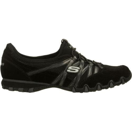 Women's Skechers Bikers Hot Ticket Black/Charcoal