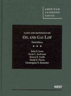 Cases and Materials on Oil and Gas Law (Hardcover)