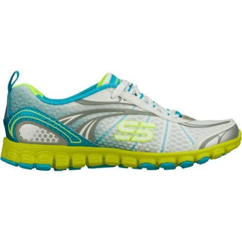 Women's Skechers EZ Flex Barbed Wire White/Blue