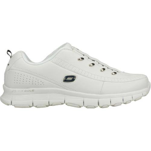 Women's Skechers Flex Fit White/Navy