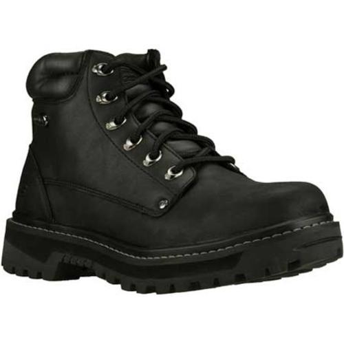 Men's Skechers Mariners Pilot Black Oily Leather