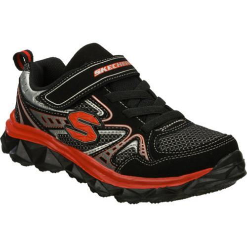 Boys' Skechers Mighty Flex Hustle Black/Red