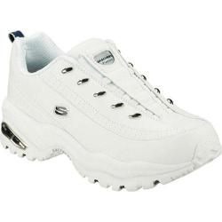 Women's Skechers Premium Premix White Leather/Navy Trim (WNV)