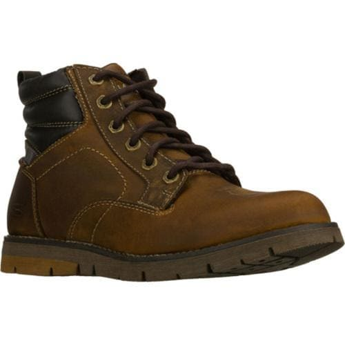 Men's Skechers Relaxed Fit Kane Gerbe Brown