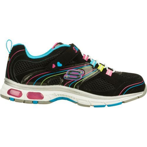 Girls' Skechers S Lights Light Ray Black/Multi