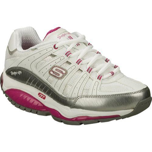 Women's Skechers Shape Ups Kinetix Response SRT White/Silver/Pink
